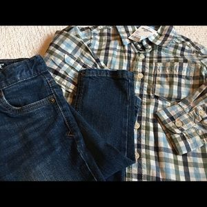 Boys size 2T jeans & shirts